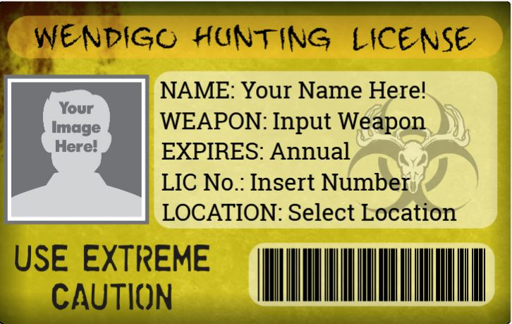 Wendigo hunting license for Tennessee fishing license prices