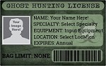 Ghost Hunting License