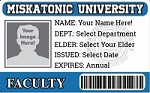 Miskatonic University Faculty ID