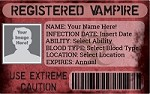 Registered Vampire ID
