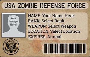 USA Zombie Defense Force ID